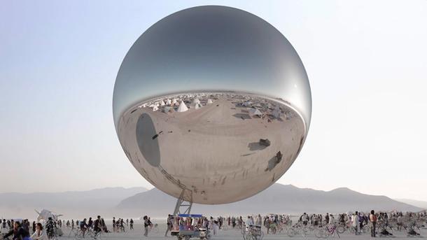 Зеркальная сфера для фестиваля Burning Man