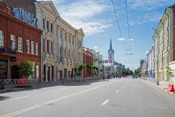Историческая улица имени Куйбышева.