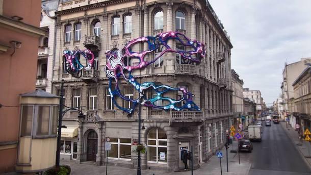 Инсталляция Кристал Вагнер в Лодзи