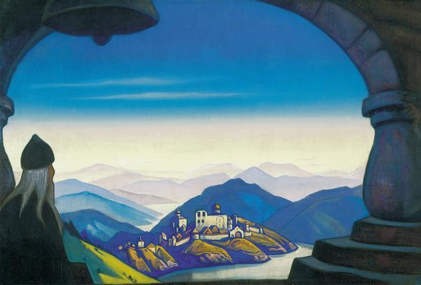 """Н. К. Рерих """"Терра славоника"""" (""""Земля славянская""""), 1943 год. Холст, темпера."""