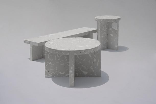 Мебель из переработанного фарфора