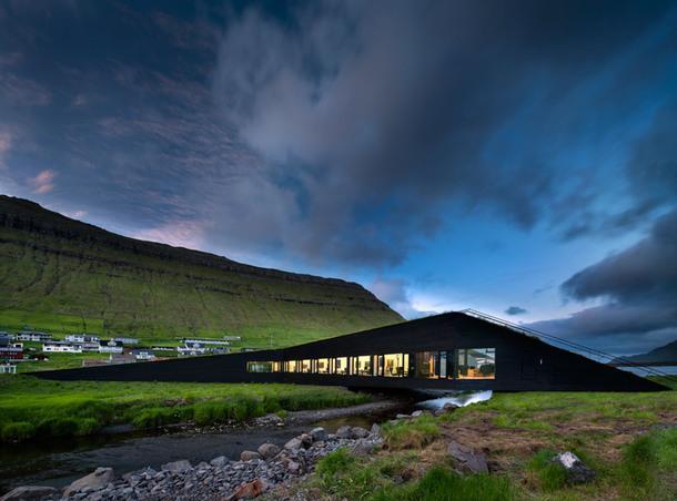 Ратуша-мост на Фарерских островах