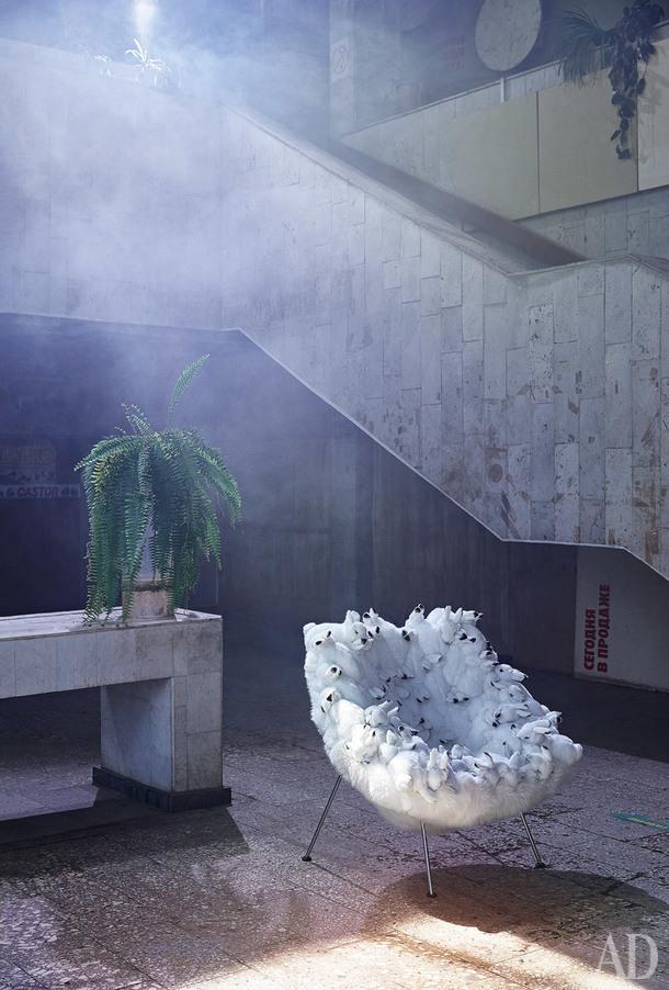 Кресло Bunny Chair, металл, искусственный и натуральный мех, AP Collection, 1262000руб.