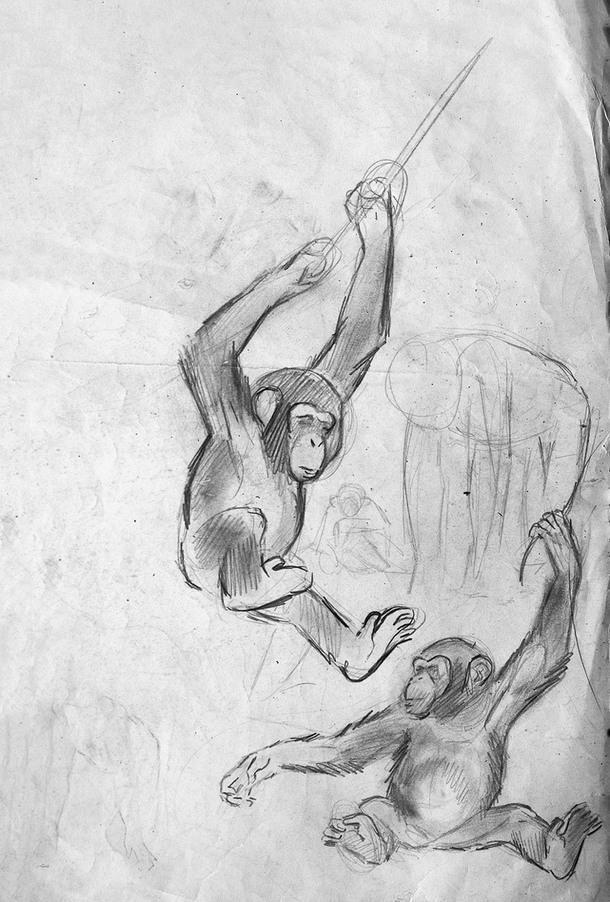Эскиз художника Робера Далле.