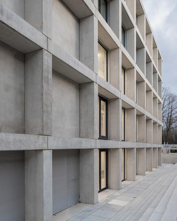 Новое здание в научном институте Moléculaires d'Orsay