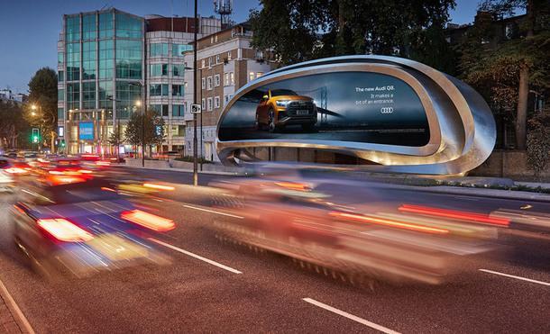 Рекламный щит по проекту Zaha Hadid Design