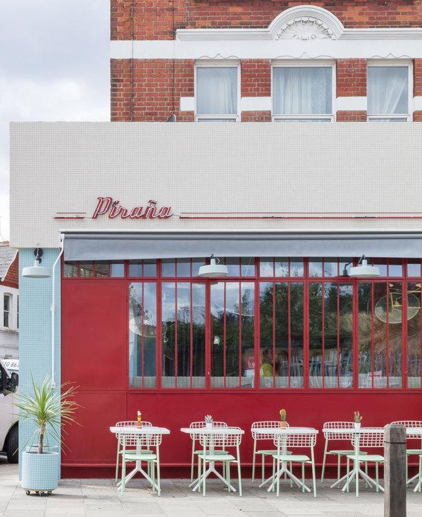 Южно-американское ретро-кафе в Лондоне